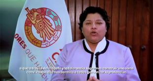 """""""Quédate en casa, cuida tu salud y la de tu familia"""": Karina Pérez"""
